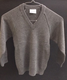 Grey Vneck Jumper (Unknown)
