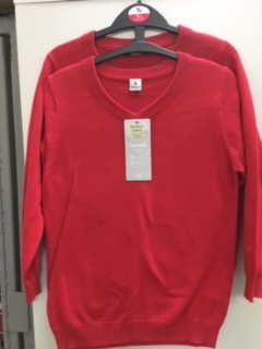 Red VNeck Jumper (Sainsbury)