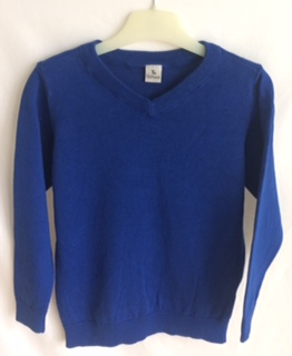 Blue V-Neck Jumper (Sainsbury)
